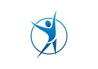 logo Fit success, wellness center icon