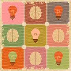 vintage Creative Brain idea