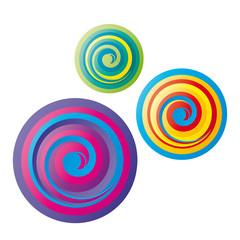 Lollipop - drei bunte Kreise