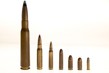 Different bullets caliber