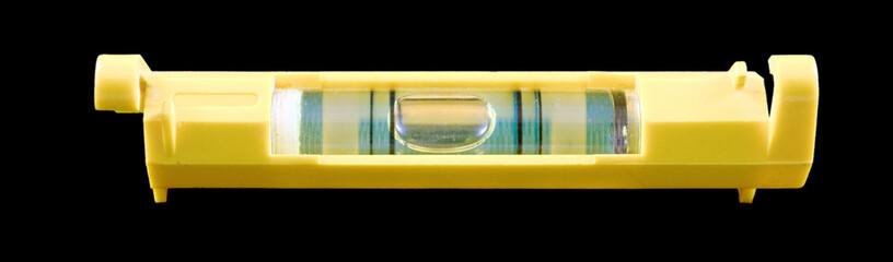 Желтый малярный пузырьковый уровень