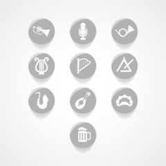 set musical instrument web icon