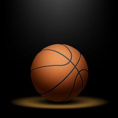 Basketball under spotlight