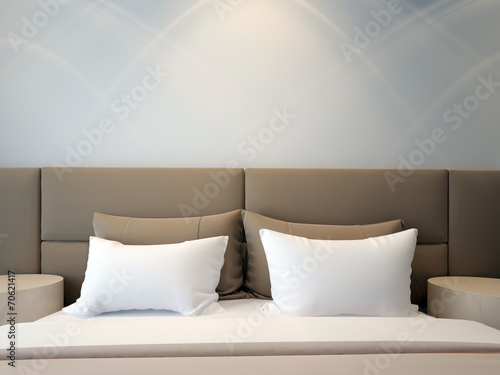 modern double bedroom - 70621417