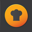 Hat cooking button,clean vector