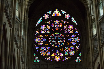 Rosette decal of St. Vitus Cathedral in Prague
