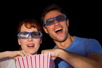 Couple enjoying a movie night