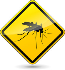 Vector beware mosquitos sign