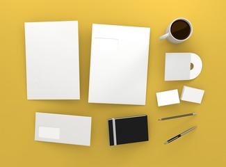 Geschäftspapiere Visitenkarte Briefpapier Kaffee