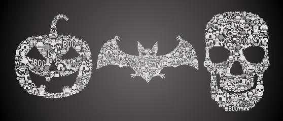 Set of original halloween symbols