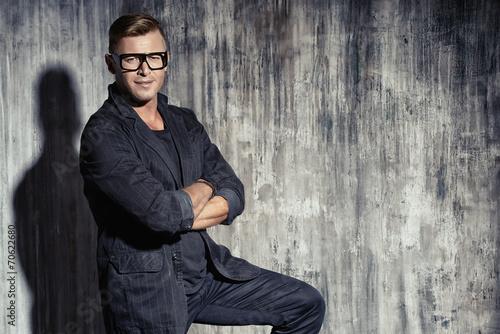 canvas print picture businessman suit