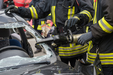 Hydraulische Rettungsschere der Feuerwehr