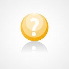 Question mark web icon