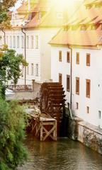 Sova's mills with waterman Kabourek in Prague