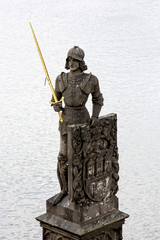 Bruncvik statue in Prague