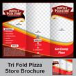 tri fold pizza store brochure