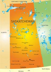 Saskatchewan province map