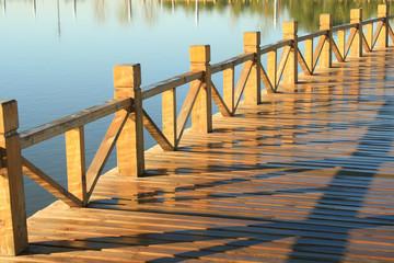 Wooden jetty