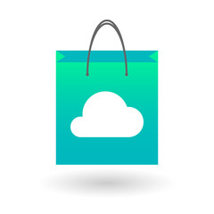 Shopping bag with a cloud
