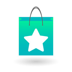 Shopping bag with a star