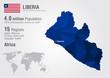 Liberia world map with a pixel diamond texture.