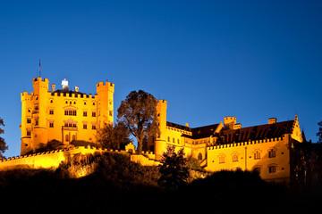 Hohenschwangau castle by night, Bavaria, Germany