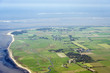 Luftbild vom Schleswig-Holsteinischen Wattenmeer bei Föhr
