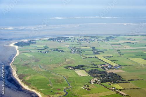 Fotobehang Luchtfoto Luftbild vom Schleswig-Holsteinischen Wattenmeer bei Föhr