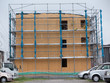 木造住宅の建築現場