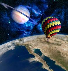Earth Saturn Planet Balloon