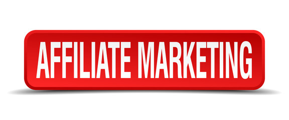 affiliate marketing red square button on white background