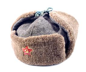 Ushanka fur hat of the Soviet army