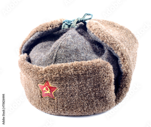 Ushanka fur hat of the Soviet army - 70626444