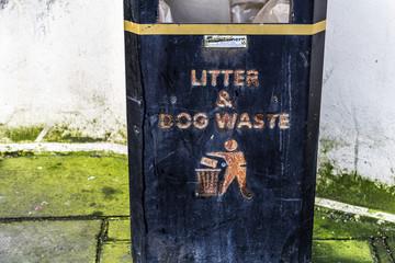 Urban litter box in Brighton, UK