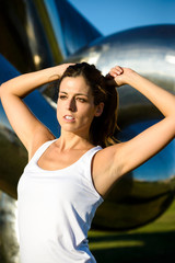 Woman ready for fitness workout outdoor