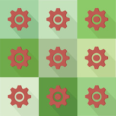 Gear flat icons design,clean vector