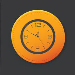 Clock button,clean vector