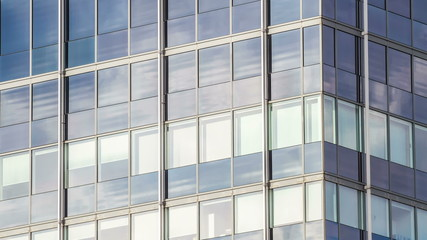 Clouds on glass Facade, modern architecture Hamburg, Timelapse