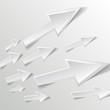 white arrow on white background - vector illustration