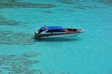Speed boat at Similan Island