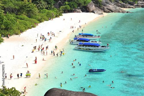 Leinwanddruck Bild Tropical beach Andaman Sea Thailand