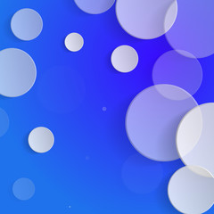 White circles on blue background - vector illustration