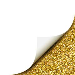 Papier mit Glitter- Ecke / Gold