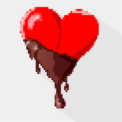 I love you, written with chocolite. Vector illustration.