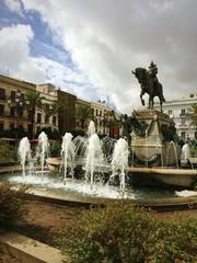 Plaza del Arenal in Jerez de la Frontera Spanien