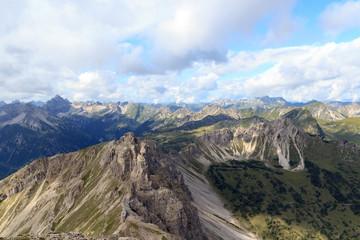 Bergpanorama Allgäuer Alpen von der Leilachspitze aus