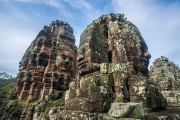 The face of Ba-yon in Angkor-thom