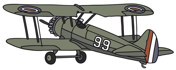 Hand drawing of a biplane - not a real type