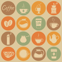 Coffee icons.