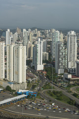 Skyscrapers in San Francisco, Panama City,Central America